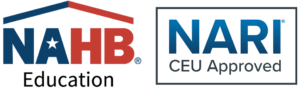 Aspire Institute workshops are now accredited for six (6) NARI CEU's and six (6) hours of continuing education credit for the following NAHB professional designations: CAPS, CGA, CGB, CGR, GMB and GMR.